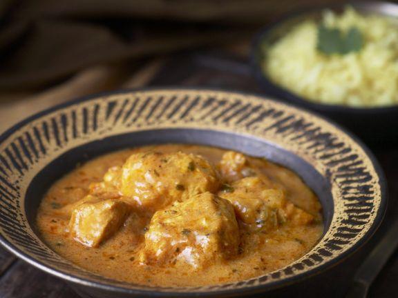Würziges Hähnchen auf indische Art ( Chicken Tikka Masala)