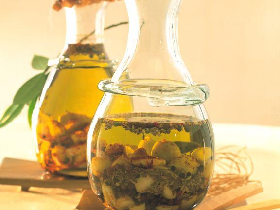 Würziges Knoblauch-Olivenöl