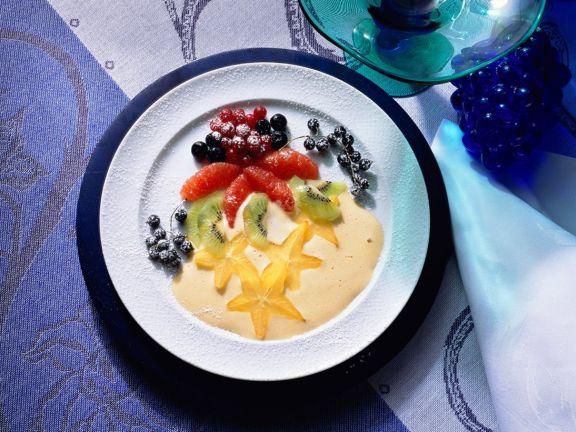 Zabaione mit Obst
