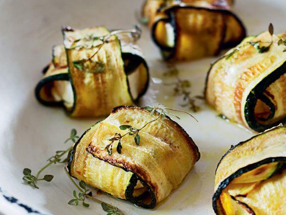 Ziegenkäse-Zucchini-Päckchen