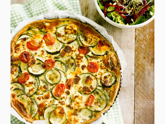 Ziegenkäse-Zucchini-Quiche