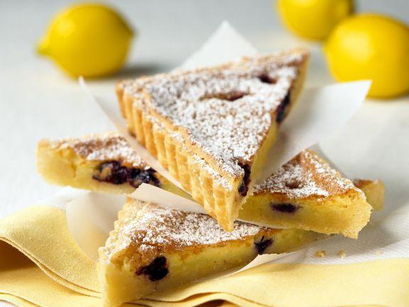Zitronen-Blaubeeren-Tarte