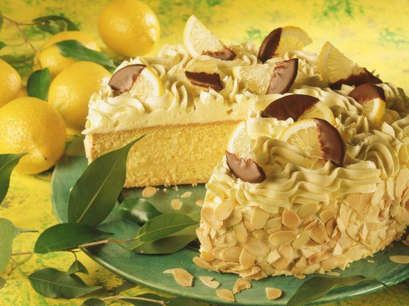 Zitronen-Buttercreme-Torte