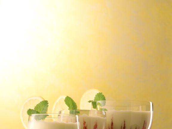 Zitronen-Himbeer-Creme