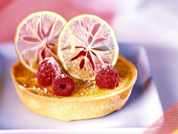 Zitronen-Himbeer-Torteletts