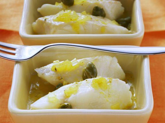 Zitronen-Kabeljau mit Kapern