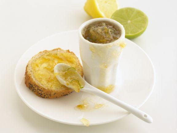 Zitronen-Limetten-Konfitüre