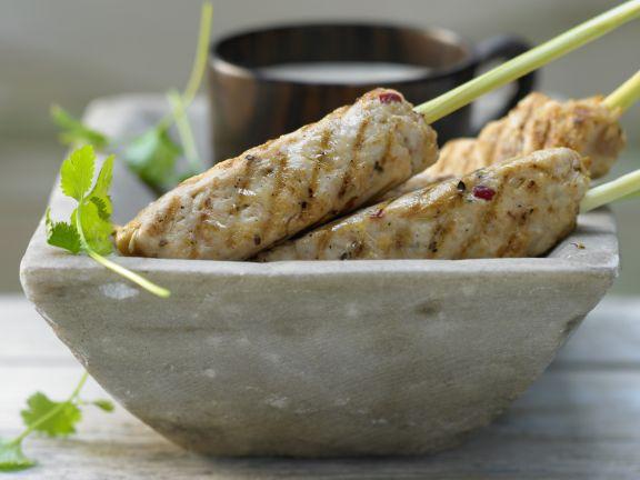 Zitronengras-Hähnchen-Spieße