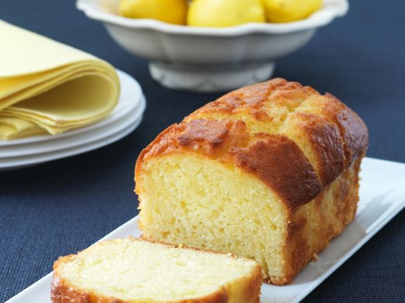 Zitronenkastenkuchen