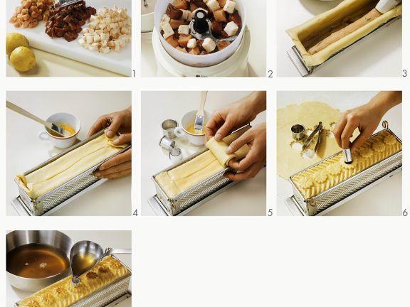 Zubereitung einer Pastete