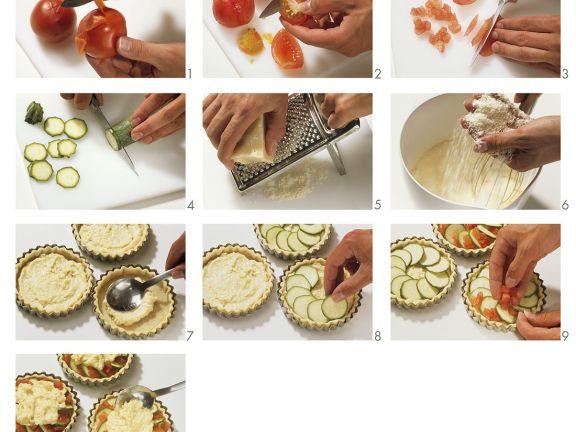 Zubereitung Zucchinitorteletts