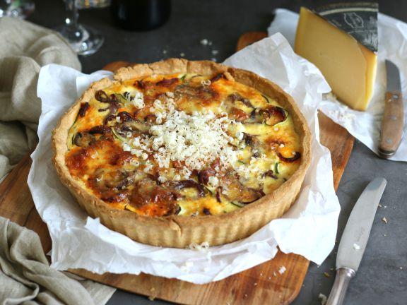 Zucchini-Chorizo-Käse-Tarte