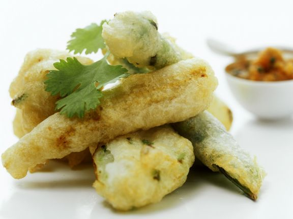 Zucchini in Tempurateig
