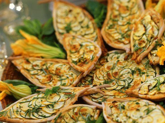 Zucchini-Kräuterwähen
