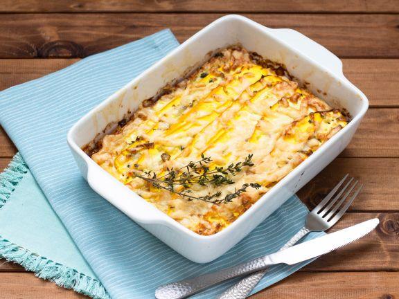 Zucchini-Lachs-Lasagne