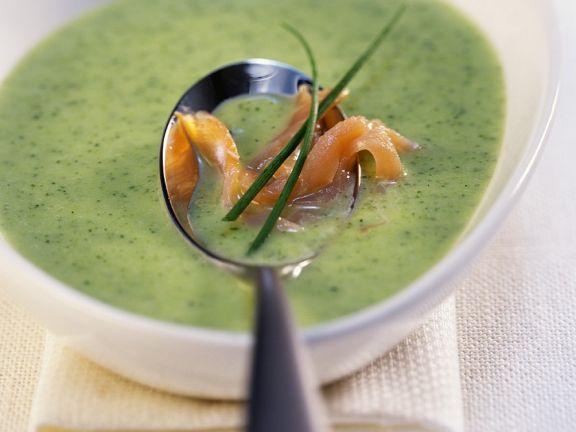 Zucchini-Lachs-Suppe