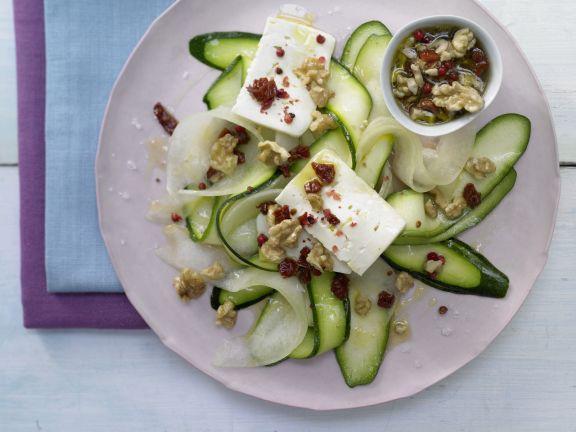 Zucchini-Melonen-Carpaccio