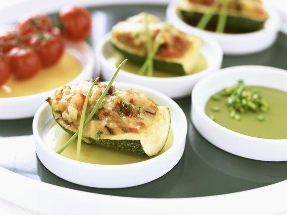 Zucchini mit Füllung