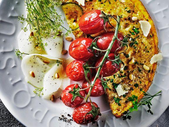 Zucchini-Omelett mit Kräutern