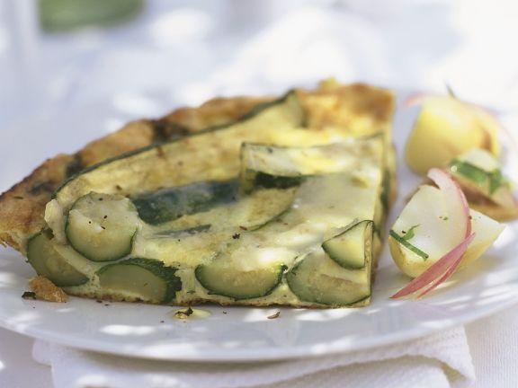 Zucchini-Quarktarte