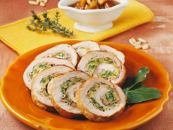 Zucchini-Schweinerollbraten