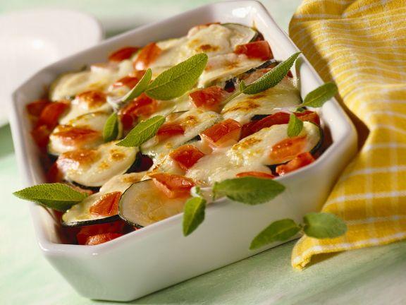 Zucchini-Soja-Gratin