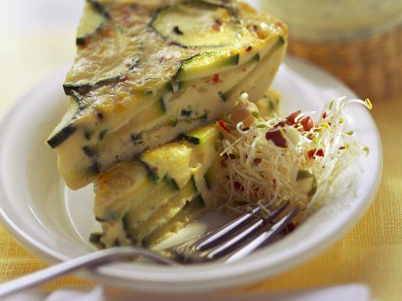 Zucchini-Speck-Kuchen