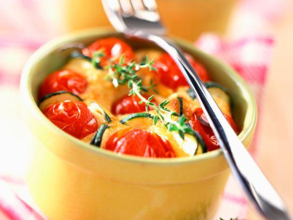 Zucchini-Tomatenauflauf