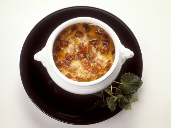 Zwiebel-Käsesuppe