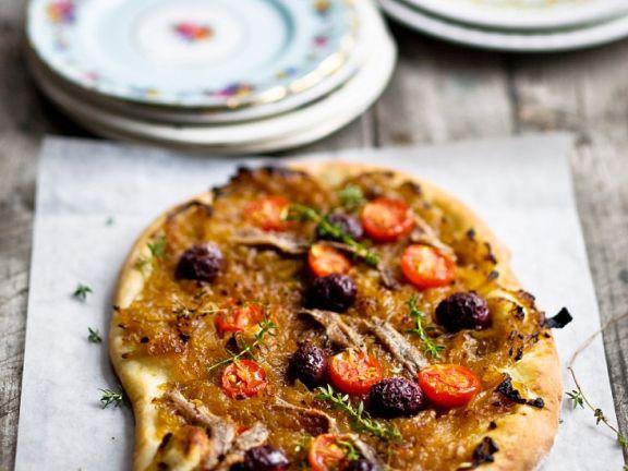 """Zwiebel-Olivenkuchen """"Pissaladiere"""""""