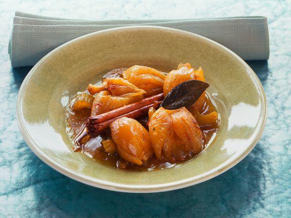 Zwiebeln mit Honig und Safran