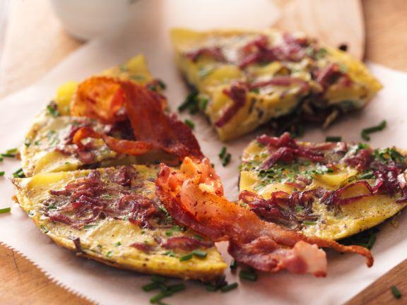 Zwiebeltortilla mit Bacon
