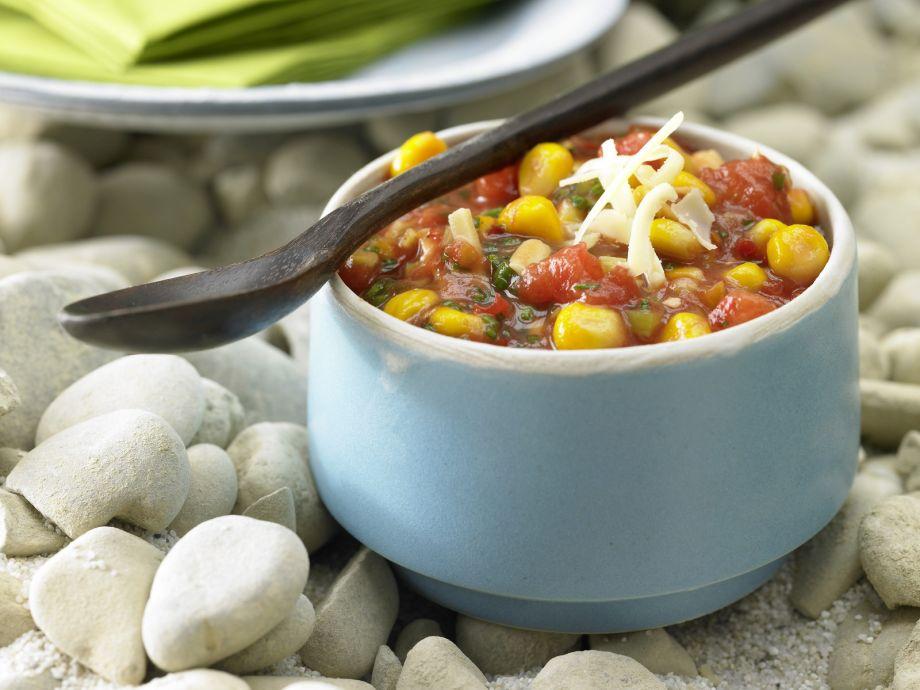 Paprika-Mais-Dip mit Käse und Schnittlauch Rezept   EatSmarter