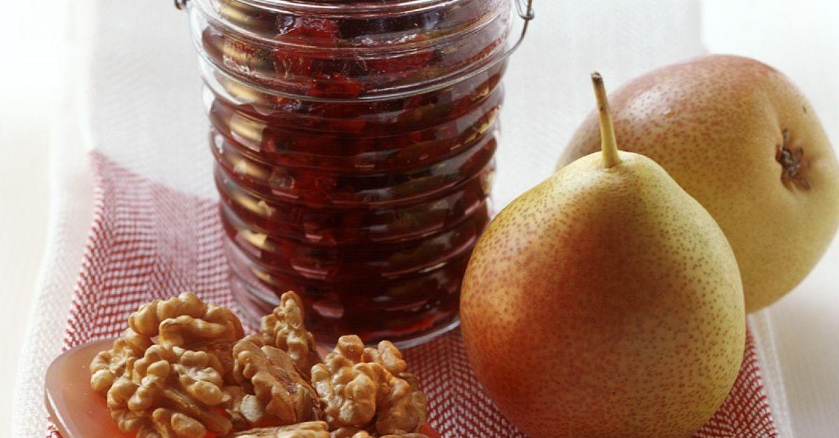 birnen brombeer marmelade mit n ssen rezept eat smarter. Black Bedroom Furniture Sets. Home Design Ideas