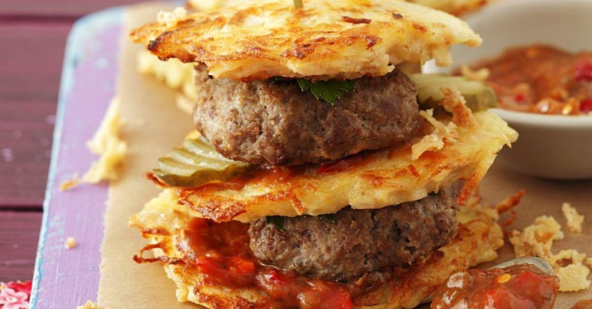 burger mit kartoffeln und buletten rezept eat smarter. Black Bedroom Furniture Sets. Home Design Ideas