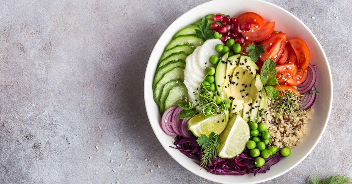 Diät-Salate zum Mittagessen