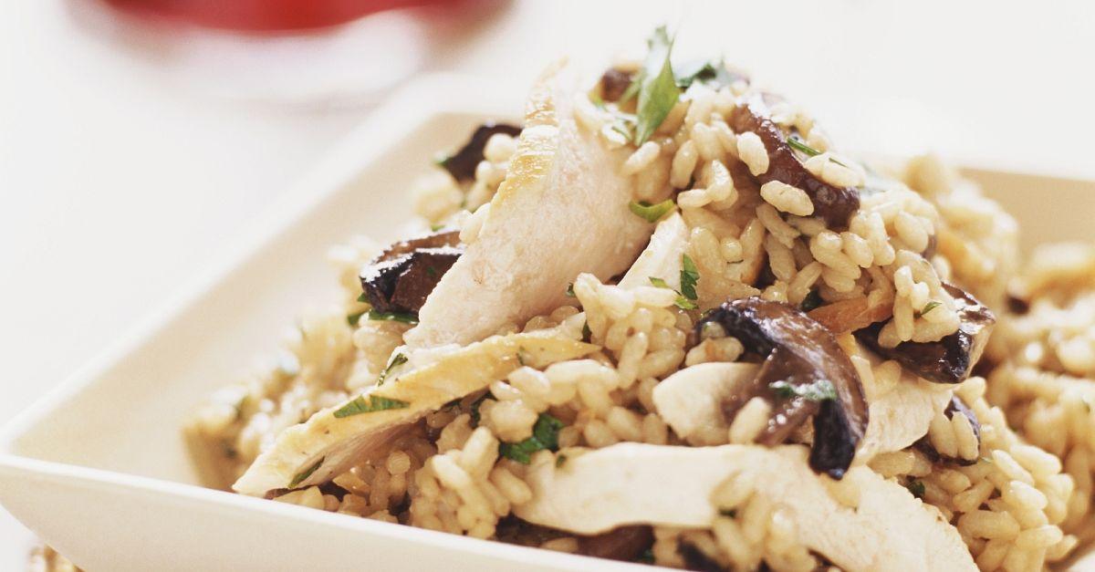 Champignon-Risotto mit Hähnchen Rezept   EAT SMARTER
