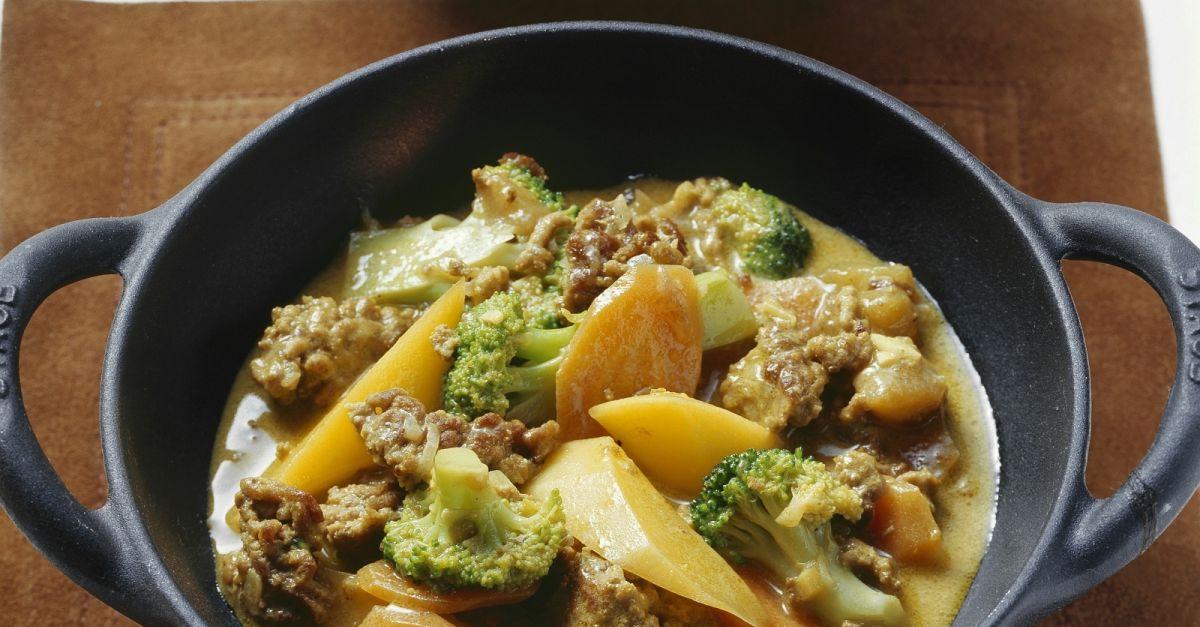 curry mit kokos hackfleisch und fr chten rezept eat smarter. Black Bedroom Furniture Sets. Home Design Ideas