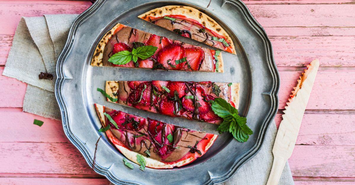 Erdbeerfladen mit Schokocreme