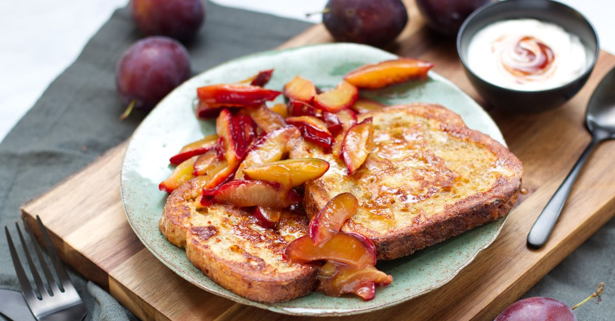 French-Toasts mit Hagebutten-Quark-Dip