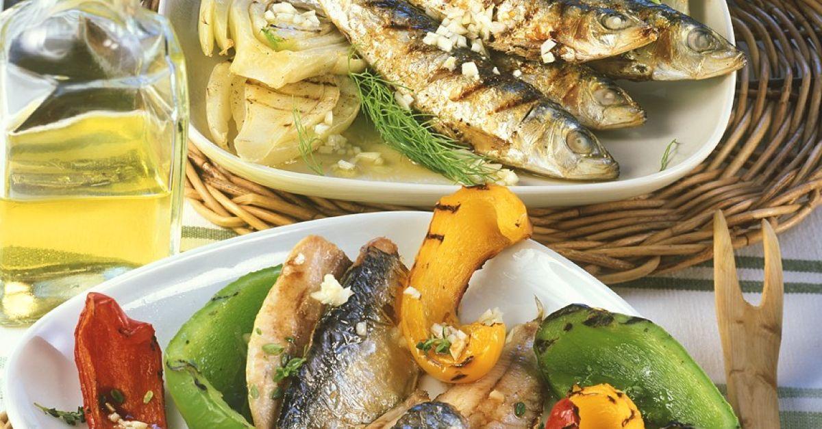 gegrillte sardinen mit gem se rezept eat smarter. Black Bedroom Furniture Sets. Home Design Ideas