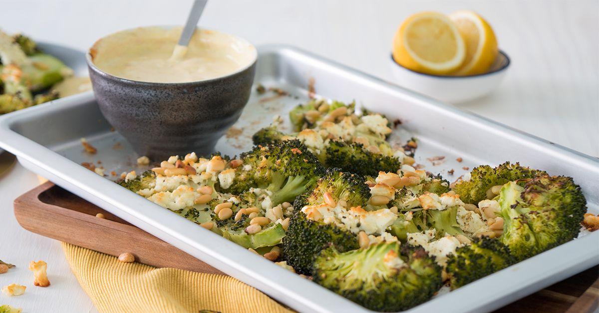 Gratinierter Brokkoli mit Curry-Dip – ein Genuss!