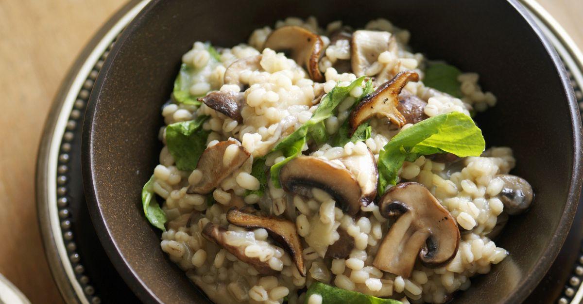 graupen pilz risotto rezept eat smarter. Black Bedroom Furniture Sets. Home Design Ideas