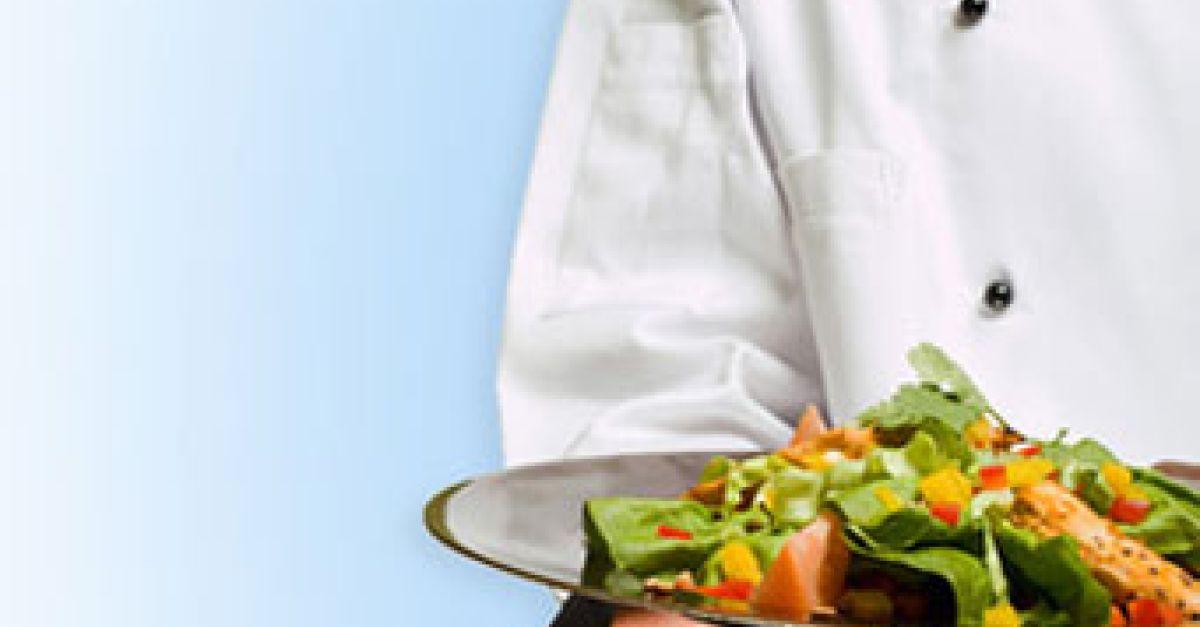 Abnehmen essen gemischten Salat