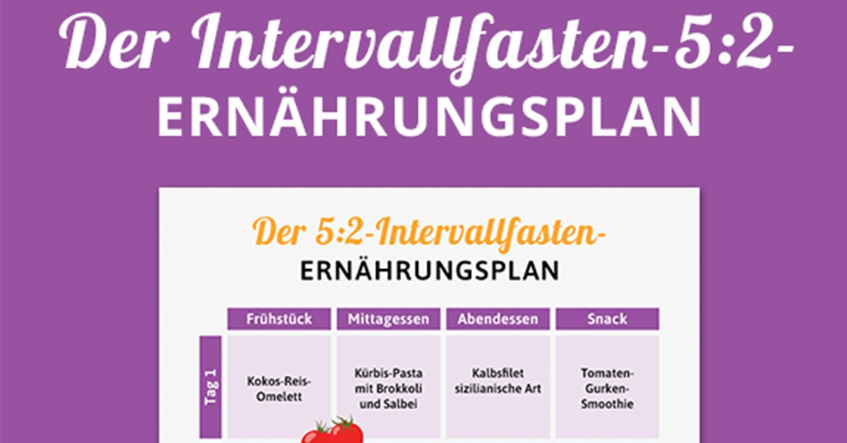 Ernährungsplan Intervallfasten 52 Methode Eat Smarter