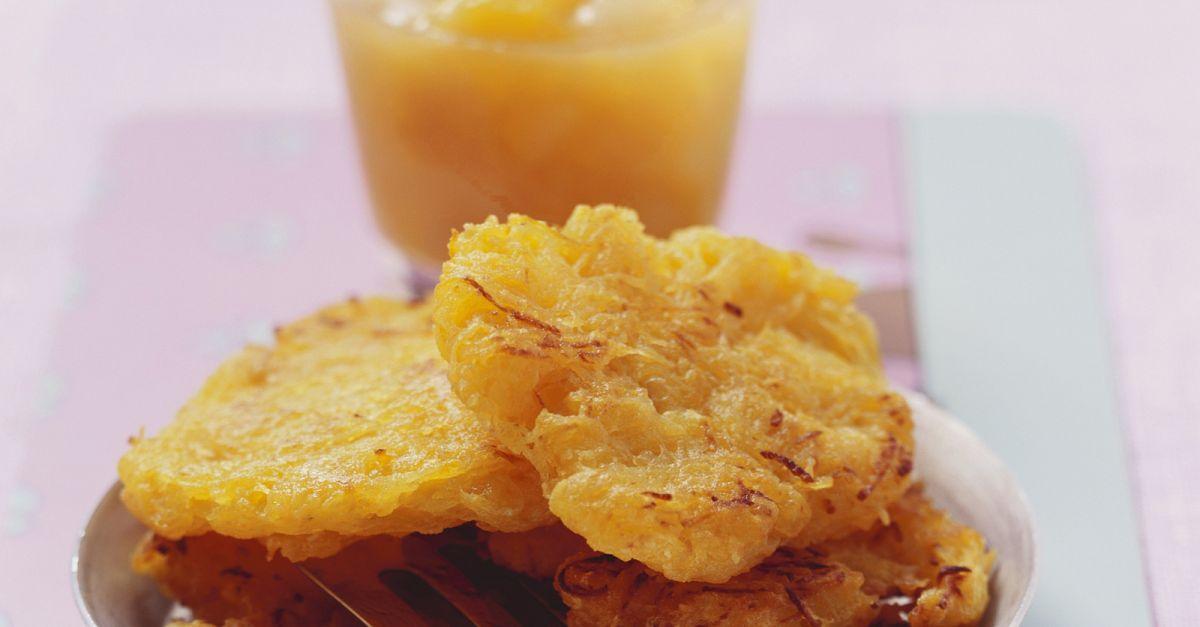 kartoffelpuffer mit mango birnen kompott rezept eat smarter. Black Bedroom Furniture Sets. Home Design Ideas
