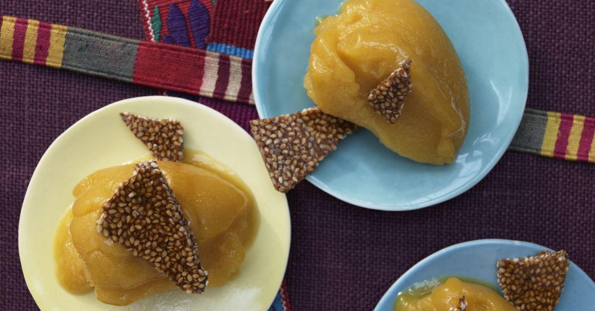 mexikanisches mango sorbet rezept eat smarter. Black Bedroom Furniture Sets. Home Design Ideas