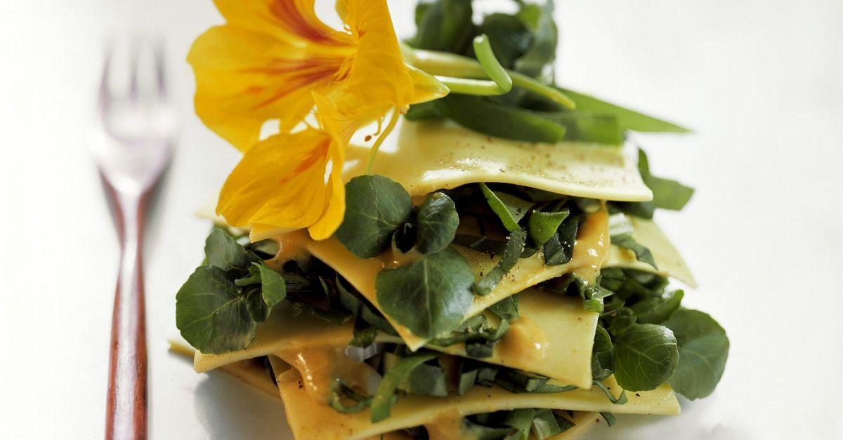 offene lasagne mit wildkr utern rezept eat smarter. Black Bedroom Furniture Sets. Home Design Ideas
