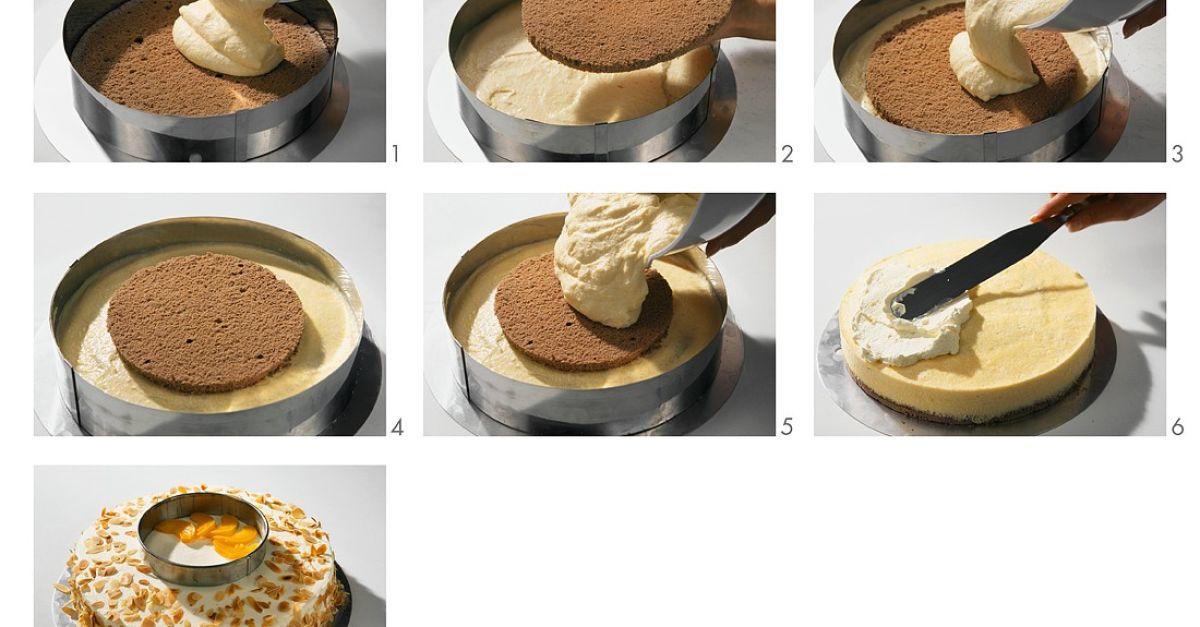 pfirsich sahne torte zubereiten rezept eat smarter. Black Bedroom Furniture Sets. Home Design Ideas