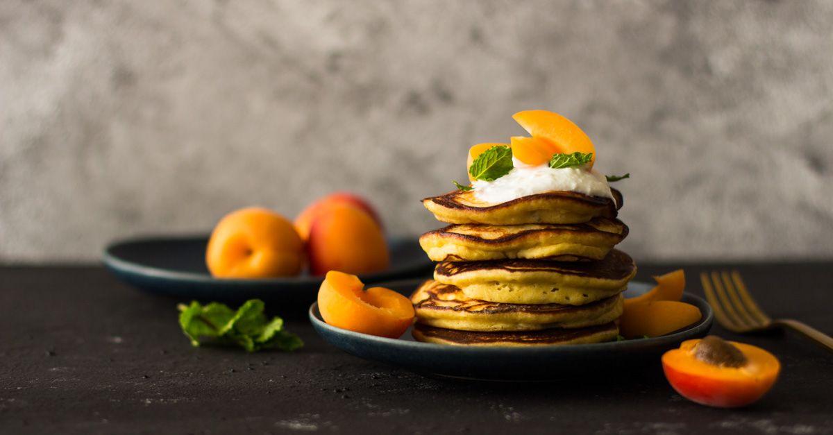 Ricotta-Pancakes mit Aprikosen